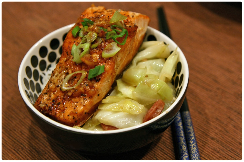Pan Fried Salmon with Asian Honey Sauce: Weeknite Meals