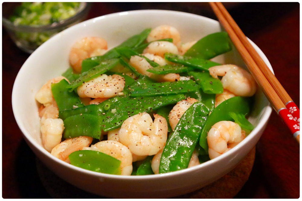snowpeas and Shrimp