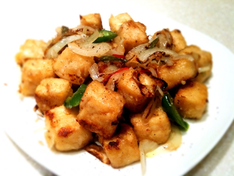 So we ordered some salt and pepper tofu yesterday from Chinatown, it ...