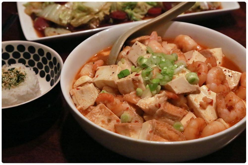 Tofu with Shrimp