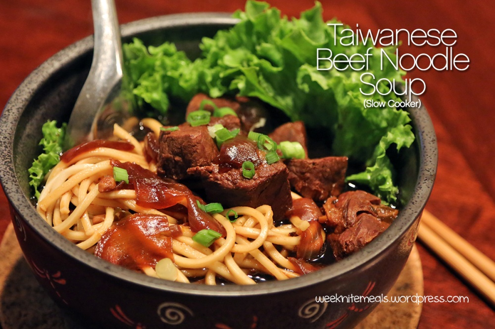 Taiwanese Beef Noodle Soup (Slow Cooker): Weeknite Meals