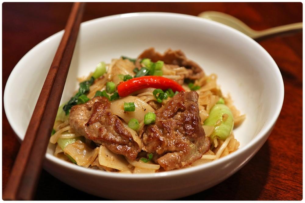 Black Bean Stired Fried Flat Noodles: Weeknite Meals