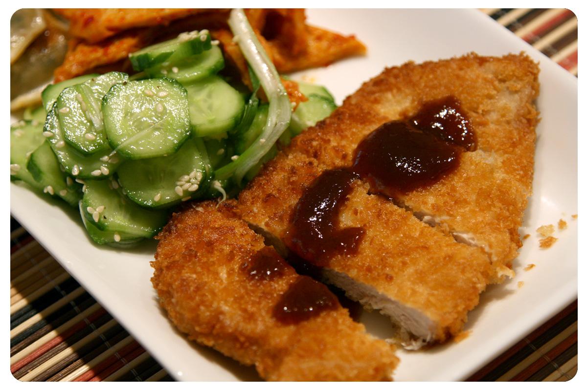 Tonkatsu & Japanese Cucumber Salad