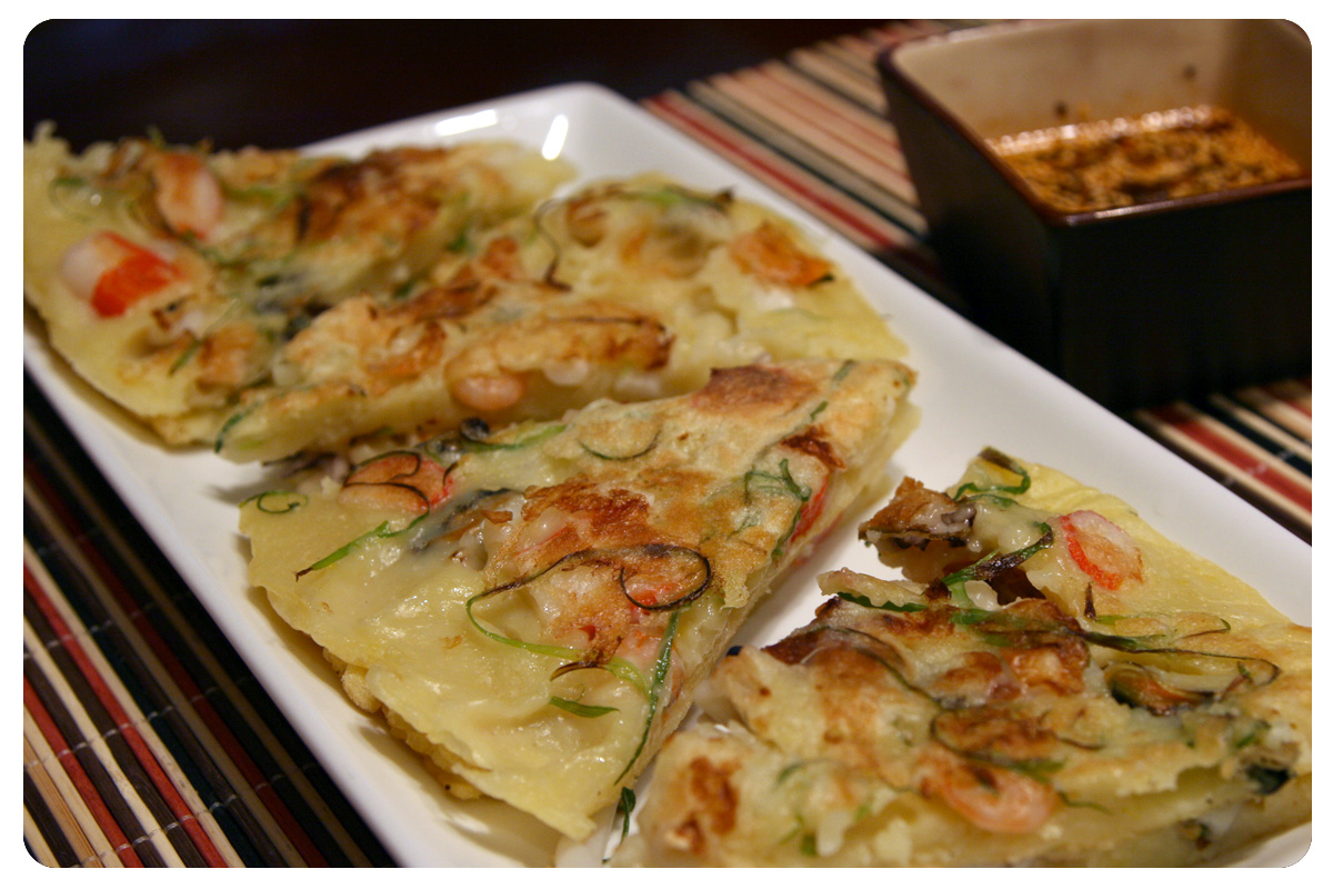 Easy Korean Seafood Pancake